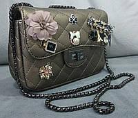 Модная сумка-клатч Chanel Шанель на цепочке золотая