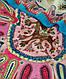 Стильный женский платок, 30% хлопок, 40% шерсть 30% полиэстер, 130х130 см, Trаum 2496-28, разноцветный., фото 3