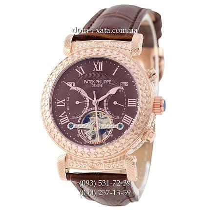 Мужские часы  Patek Philippe Grand Complications Power Tourbillon Brown-Gold-Brown, механические, элитные часы, реплика, отличное качество!, фото 2