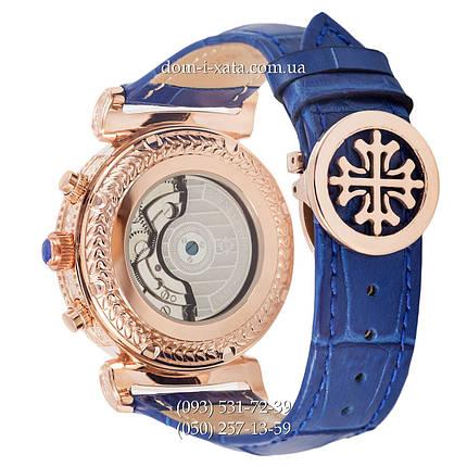 Мужские часы Patek Philippe Grand Complications Power Tourbillon Blue-Gold-Blue, механические, элитные часы, реплика, отличное качество!, фото 2