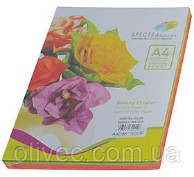 """Бумага офисная цветная """"Spectra Color Cyber Rainbow Pack"""" 100 л. (5х20) А4, 155 г/м2"""