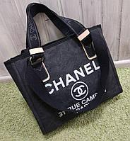 Модная женская сумка Chanel Шанель эко-кожа черная