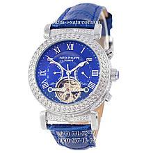 Мужские часы Patek Philippe Grand Complications Power Tourbillon Blue-Silver-Blue, механические, элитные часы, реплика
