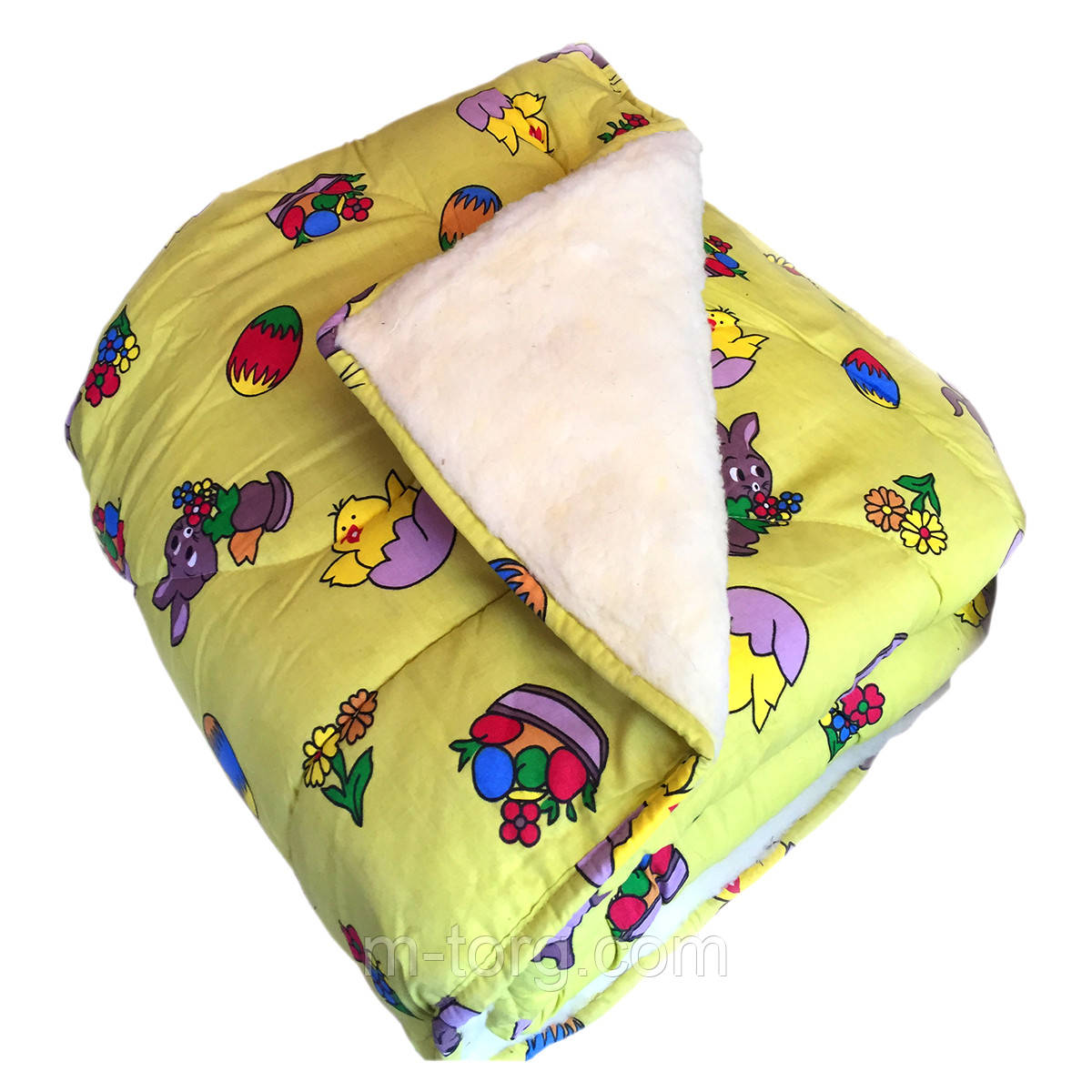 Одеяло детское 110*140 из овчины, ткань хлопок