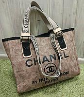 Модная женская сумка Chanel Шанель эко-кожа коричневая