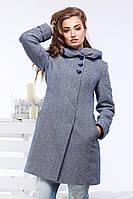 Модное шерстяное пальто полуприталенного силуэта
