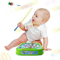 Рыбалка магнитная музыкальная. 3 режима. Игрушка для малышей .рыбки + 2 удочки