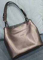 Женская брендовая сумка Зара Zara золотая