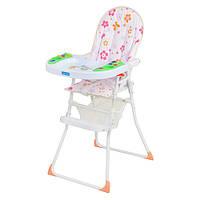 Детский стульчик для кормления M 0404 розовый