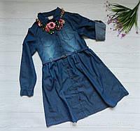 Джинсовое платье, стильное на девочку