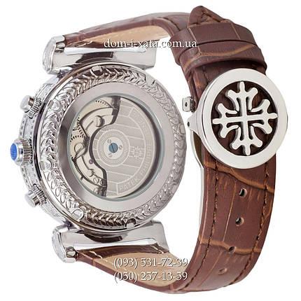 Мужские часы Patek Philippe Grand Complications Power Tourbillon Brown-Silver-Whit, механические, элитные часы, реплика, отличное качество!, фото 2