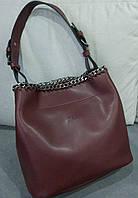 Женская брендовая сумка Зара Zara бордовая