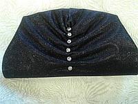 Клатч женский черный с блеском и камнями (Турция)