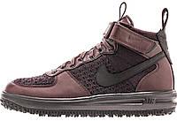 Мужские кроссовки Nike Lunar Force 1 Flyknit Workboot (Найк Лунар Форс) бордовые
