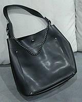 Женская брендовая сумка Guess Гесс с одной ручкой черная