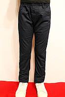 Дитячі зимові брюки темно-синього кольору на флісі під резинку від 4 до 12 років. Виробник Польша.