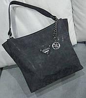 Женская брендовая сумка Guess Гесс качественная эко-кожа черная