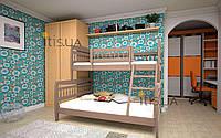 Кровать детская Комби 1 90х140х200 см. Тис