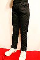 Зимові дитячі штани чорного кольору на флісі на резинці хлопчикам віком 4-6 років. Виробник Польша.