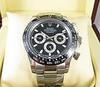 Годинник Rolex Daytona Ceramic 40mm black/silver. Replica: ELITE.