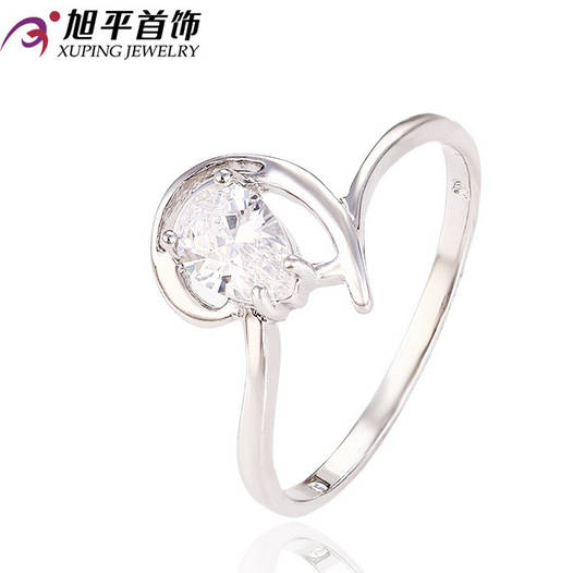 Кольцо 12746 размер 19, позолота Белое Золото