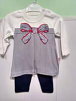 Нарядный костюмчик с лосинами для девочки