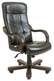 Кресло Вирджиния Вуд Люкс орех Титан черный (Richman ТМ)