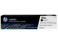 Картридж HP CLJ CP1025 black DualPack (CE310AD)