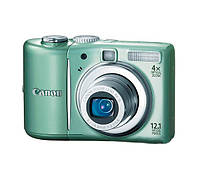 Фотоаппарат Canon PowerShot A1100 IS Green, 1/2.3', 12.1Mpx, LCD 2.5', зум оптический 4x, SD, SDHC, SDXC, аккумулятор 2хAA, 155 г (витрина)
