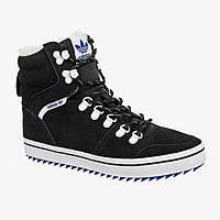 Кроссовки мужские Adidas Black Hill Tan С МЕХОМ (в стиле адидас) черные, фото 1