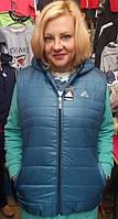 Модный жилет женский на синтепоне  (52-60р), доставка по Украине