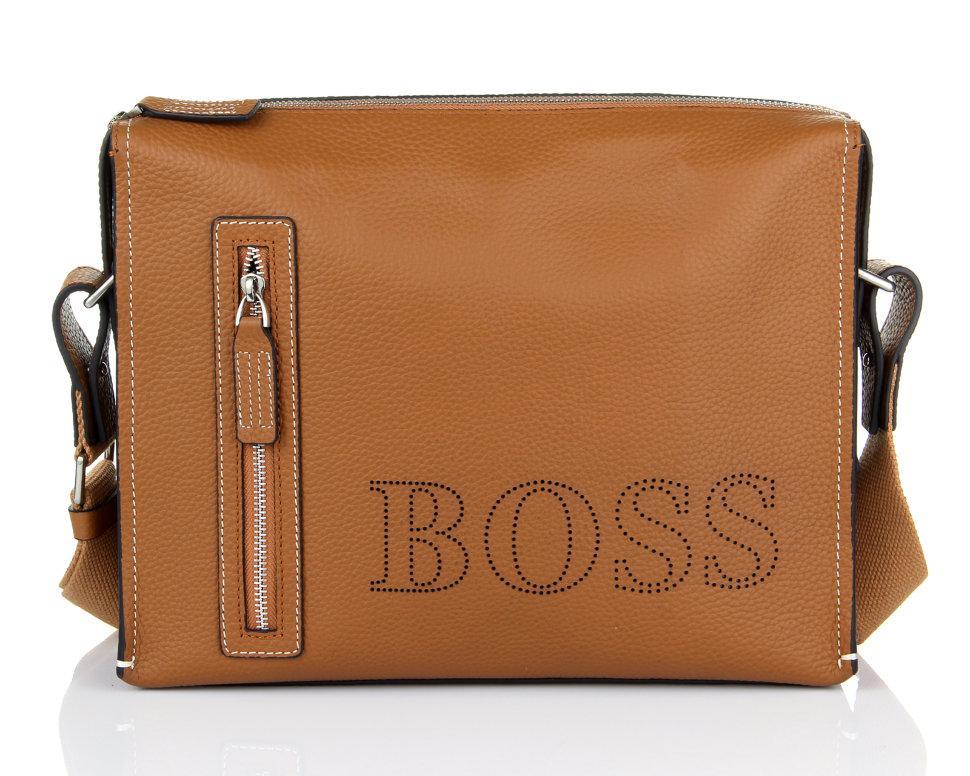 Горизонтальная сумка Hugo Boss 2184-4 Camel