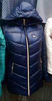 Пуховик зимний женский(56-62) с капюшоном, доставка по Украине