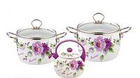 Набор эмалированной посуды 5 предметов Kamille