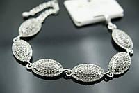 1112 Модный браслет в стразах. Свадебные аксессуары, браслеты оптом из Китая
