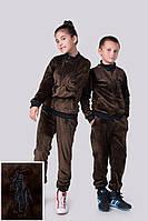"""Детский и подростковый спортивный велюровый костюм """"Polo""""."""