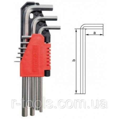 Набор шестигранников 9 ед 1,5-10 мм CrV длинные YATO YT-0501