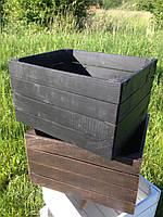Ящик тара деревянный универсальный декоративный ( 50х40х30 см)от производителя (Черный)