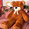 Большой плюшевый медведь Фокси, 120 см, коричневый