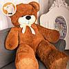 Большой плюшевый медведь Фокси, 130 см, коричневый, фото 3