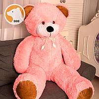 Большой плюшевый медведь Фокси, 120 см, розовый