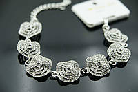 1114 Модные массивные браслеты в стразах. Свадебные аксессуары, браслеты оптом из Китая