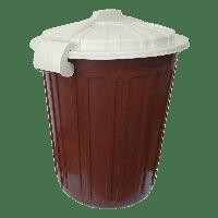 Бак для мусора Irak Plastik Luxury № 5 Herkul 73 л коричневый