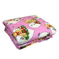 Одеяло детское овечья шерсть 110/140 ткань хлопок