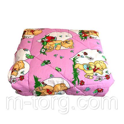 Одеяло детское овечья шерсть 110/140 ткань хлопок, фото 2