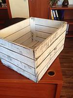 Ящик тара деревянный универсальный декоративный ( 50х40х30 см)от производителя (Винтажный)