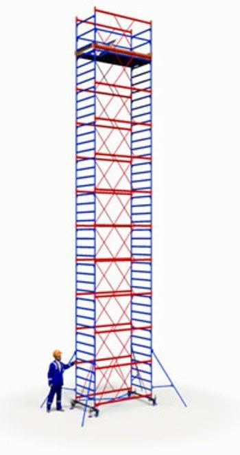 Вышка тура ПСРВ 1,2х2м комплект (10+1), рабочая высота 14,6м