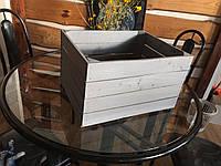 Ящик тара деревянный универсальный декоративный ( 50х40х30 см)от производителя (Серый)