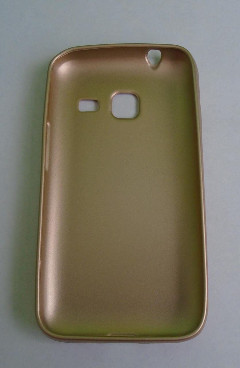Чехол бампер softcase  samsung j1 mini j105 gold