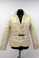 Куртка пиджак женская демисезонная, бежевая, р.44-50